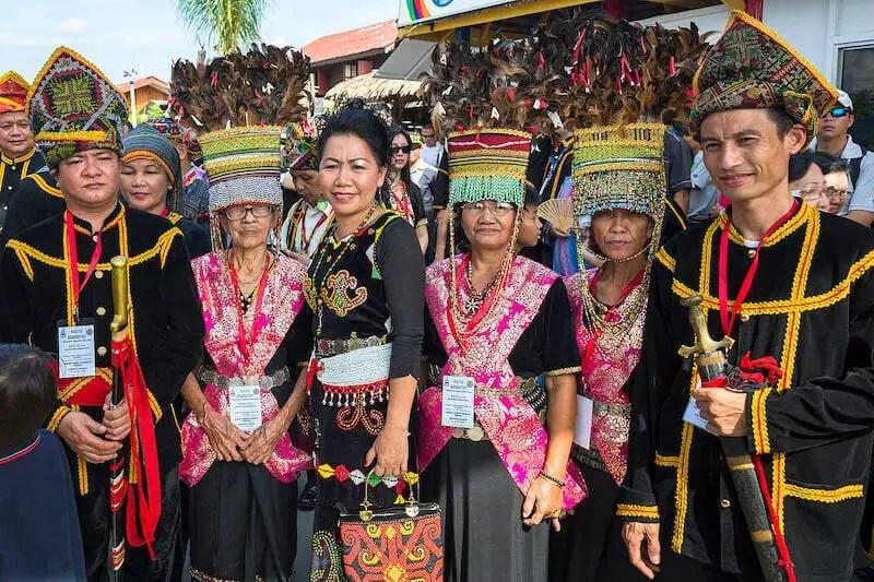Kadazan people in Borneo