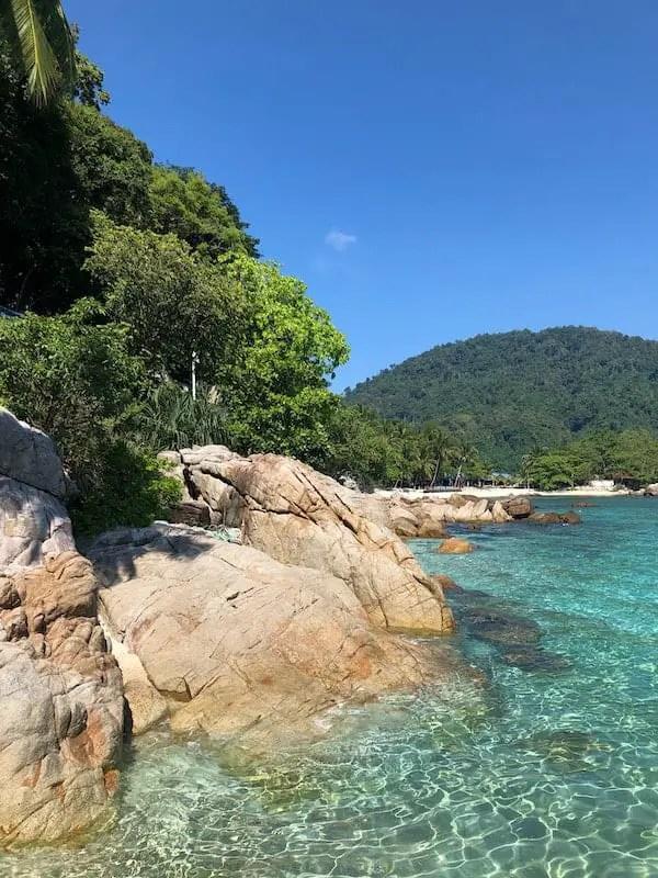 Perhentians beach clear water