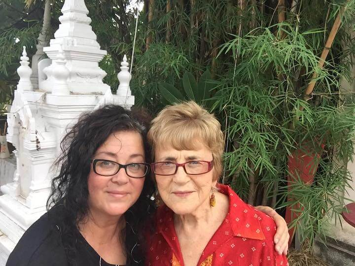 Rachel and her mom in Chiang Mai
