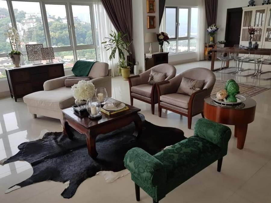 Living room, apartments for rent in penang