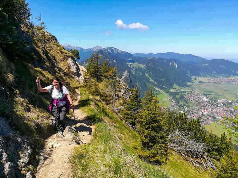 Laurel hiking in the German alps