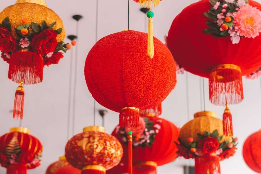 Bright red Chinese Lanterns