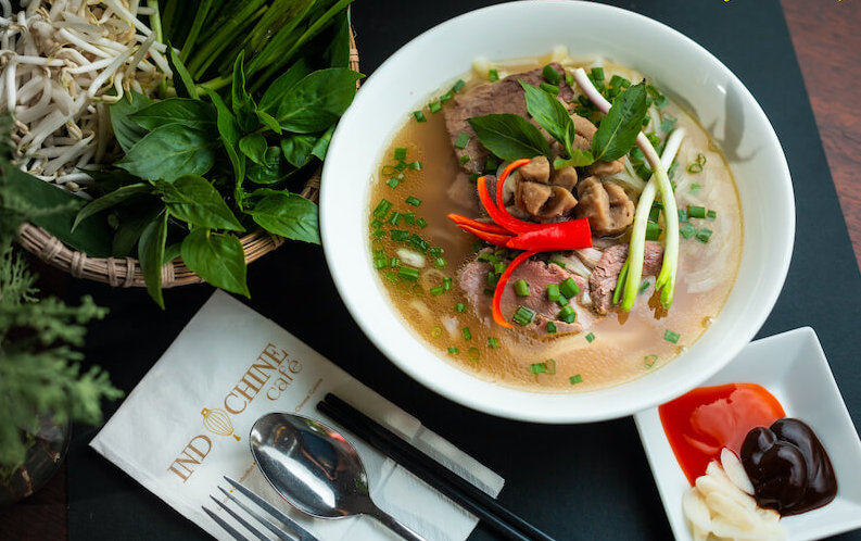pho soup with chili food delivery Penang