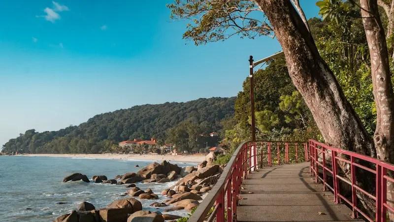 walkway and beach in Malaysia