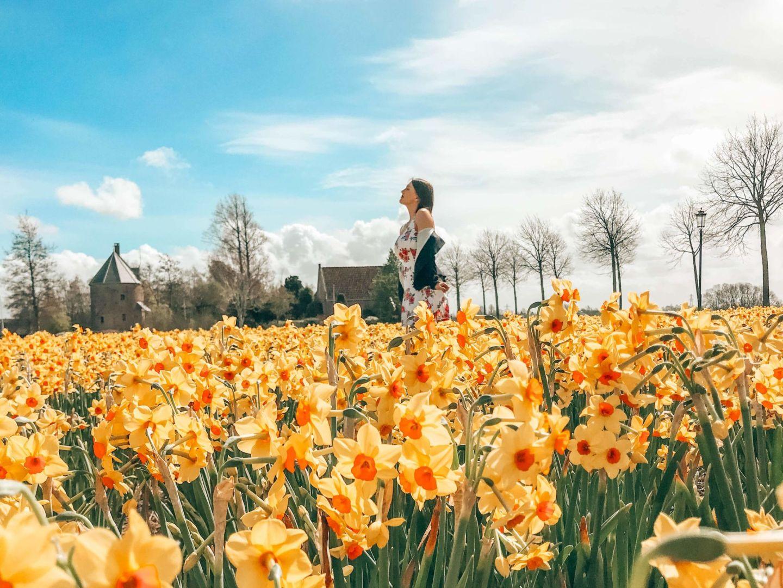 Keukenhof Tulip fields Holland Sandinourhands travel blog