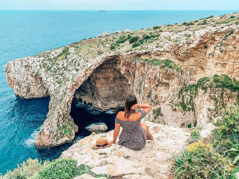 blue grotto Malta travel blog sandinourhands
