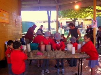 Sand sculpting workshops.
