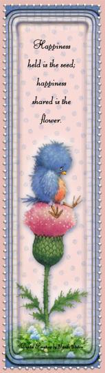 Little Blubird Sitting On Flower