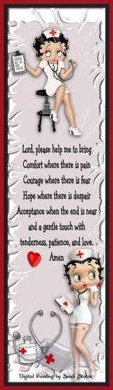 Nurses Prayer Betty Boop