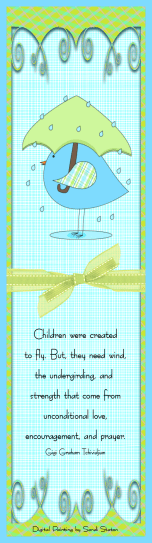 Thinking of You Bluebird Bookmark fo Card