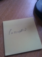 Password Post It Note
