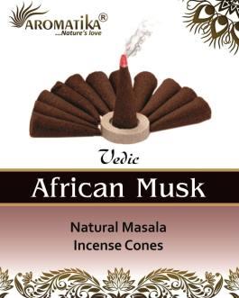 AROMATIKA CONES VEDIC MASALA AFRICAN MUSK (Musc africain)