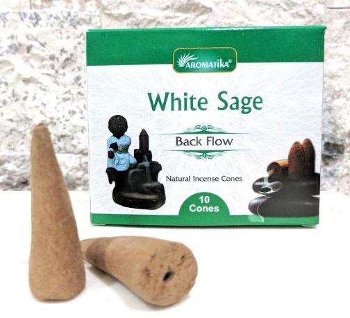 CONES BACK FLOW WHITE SAGE pour PE Fontaine résine –  (couleurs végétales)