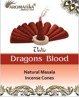 AROMATIKA CONES VEDIC MASALA DRAGONS BLOOD  (Sang des dragons)