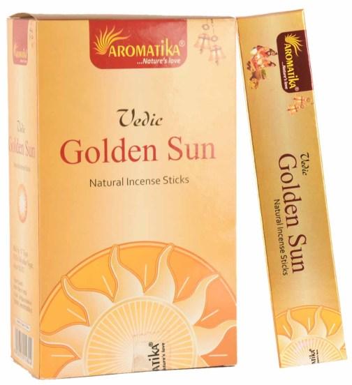 MASALA VEDIC GOLDEN SUN (Soleil d'Or) 15g – Parfum : Sai Flora