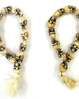 REF205  – BR Mala tête de mort (perles en résine)