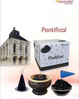 AROMATIKA POUDRE ENCENS 100g (avec kit pour cônes) PONTIFICAL – Parfum OLIBAN-VANILLE (couleur naturelle)