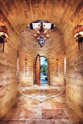Spanish Colonial Foyer Luxe Interiors Design