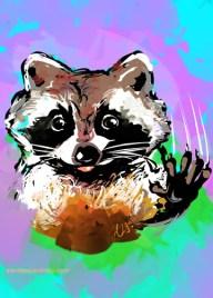 Purple raccoon_sandpaperdaisy