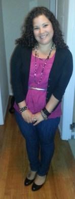 OOTD: pink + black