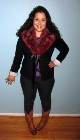 diy faux fur collar - burda pattern