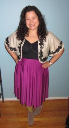 radiant orchid // henkaa convertible dress as skirt