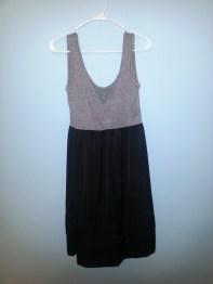 merona grey and black dress