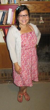 thrift style thursday floral dress