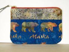 Blue Alaska Wristlet