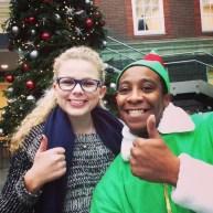 I got a selfie with an elf at school