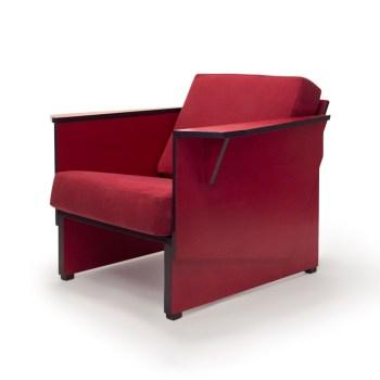 Nieuw ontwerp: rode fauteuil