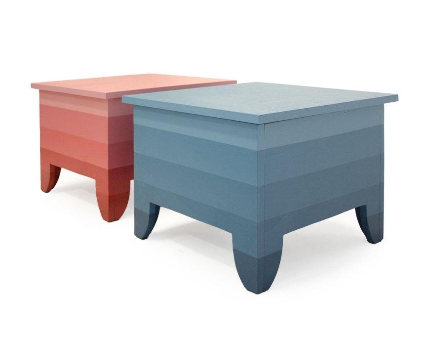 Gestreepte salontafel met opbergruimte