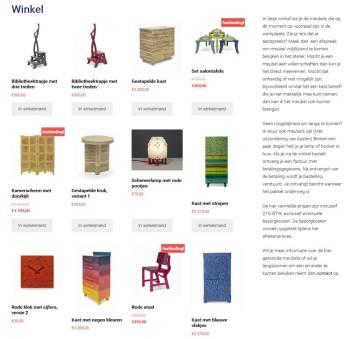 Nieuw: Webwinkel voor alle meubels die uit voorraad te koop zijn