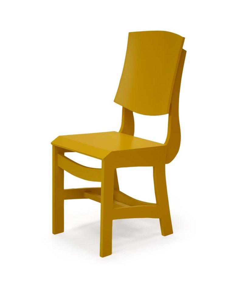 Mosterdkleurige stoel