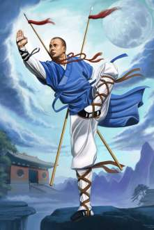 This painting of 32nd Generation Shaolin Monk, Sifu Xing Wei was painted for the 7th Annual Celebration of Shaolin Kung Fu Chan, a school in Las Vegas, where Sandra was a student.