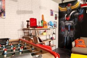Etagère modulable, objets vintages, objets retro, baby foot