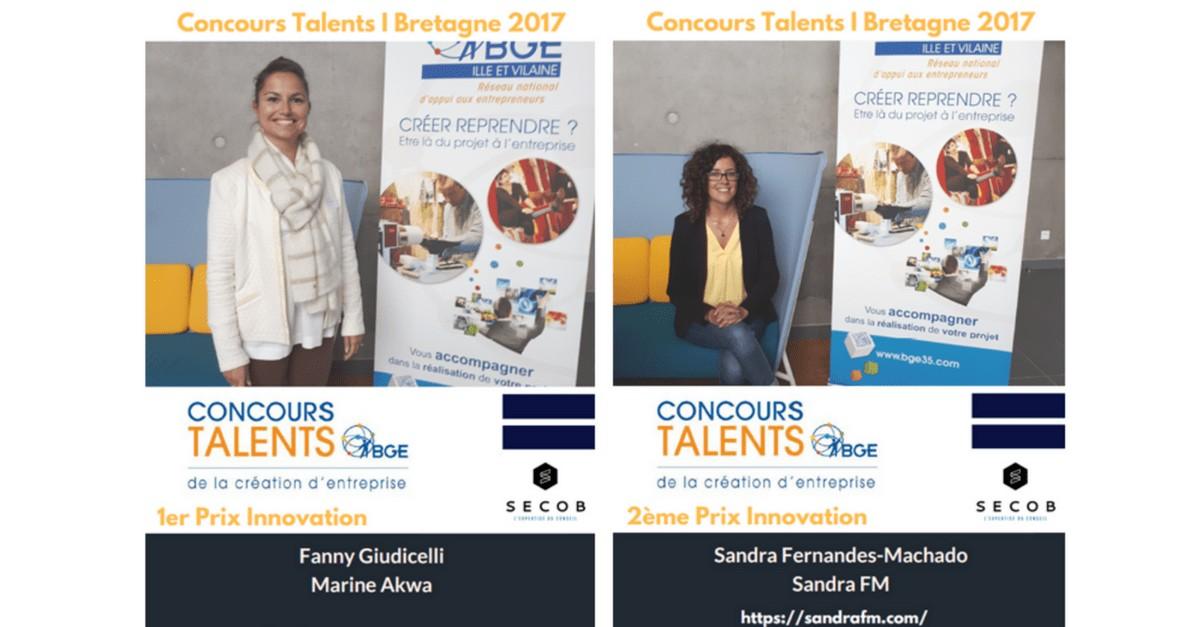 Sandra FM, concours talents bretagne 2017, laureats, bge, SECOB, Sandra Fernandes-Machado, e-sante, promotion de la santé, prévention, obésité, surpoids, psychologue, santé publique