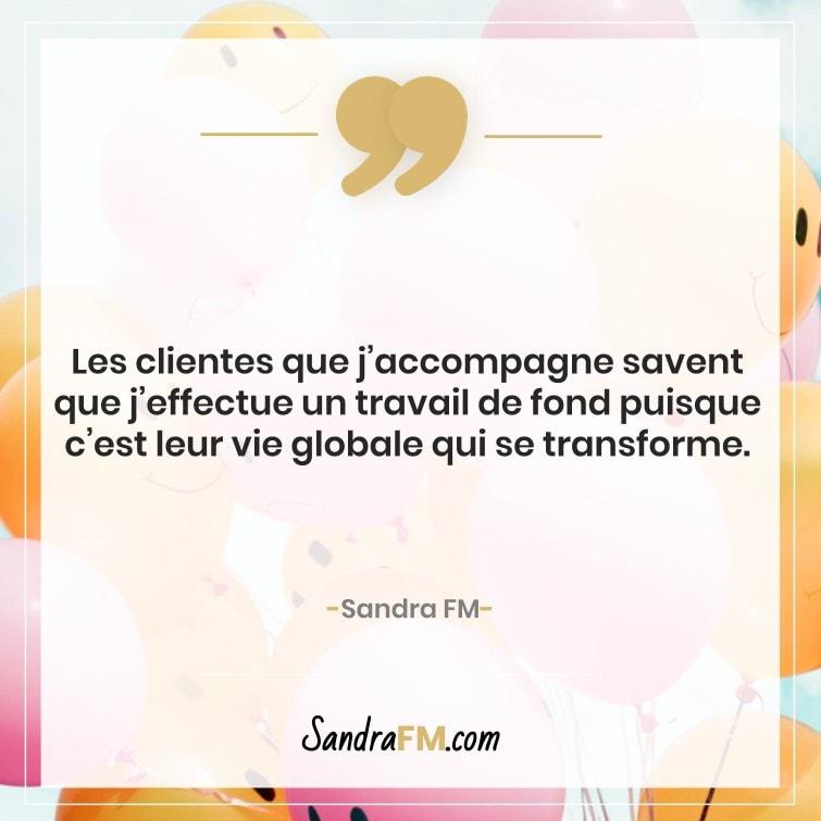 Travail de fond Sandra FM