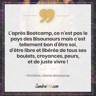 Bootcamp Avant Apres Temoignage Christine Libération Violence Psy Sandra FM croyances peurs