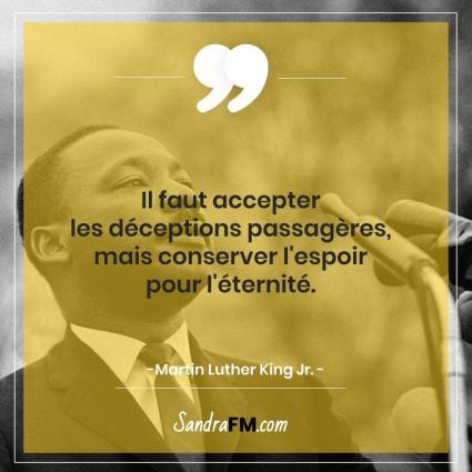 Libre de la fibromyalgie Sandra FM espoir citation martin luther king