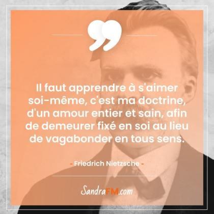 Image de soi je ne supporte pas mon reflet dans le miroir Sandra FM citation Friedrich Nietzsche s'aimer soi même
