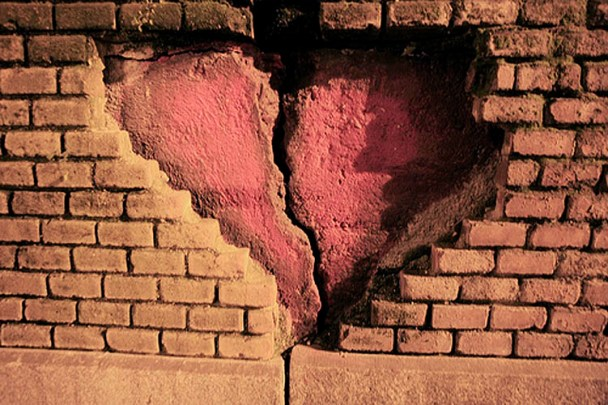 broken hearted wall