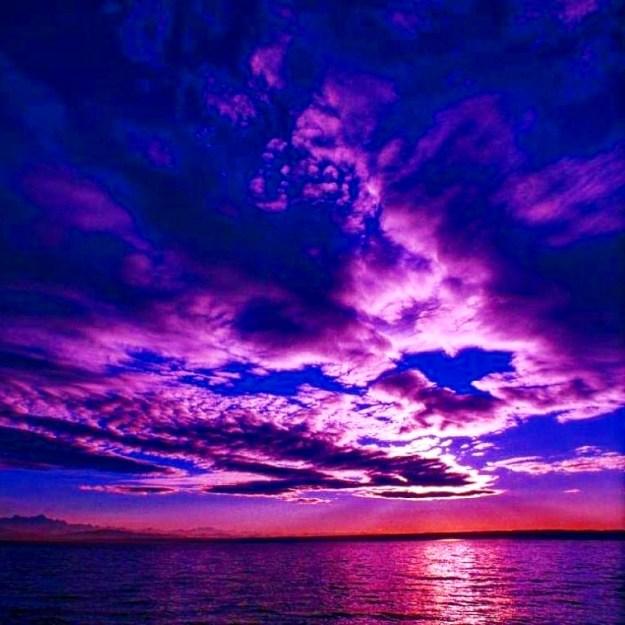 A purple sky for my purple unicorn