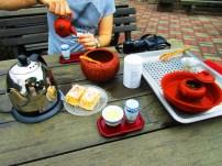 Traditional Tee preparing at Maokong