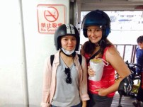 Candice's sister Jill - on the ferry to Cijin island