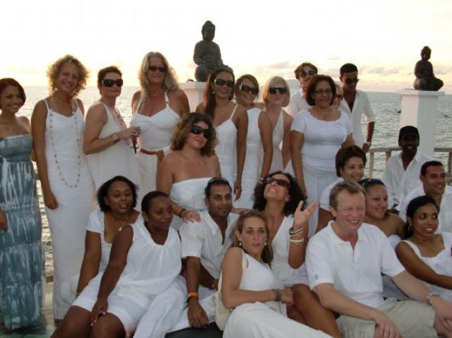 """Deb's farewell """"Sunset White Party at Lounge 8"""" ... she's a classy lassy ..."""