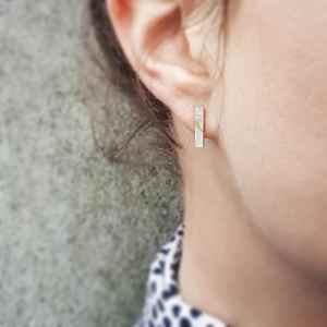 Birds of a Feather Bar Stud Earrings