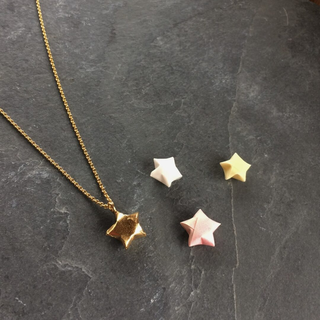 Gold Lucky Star Necklace