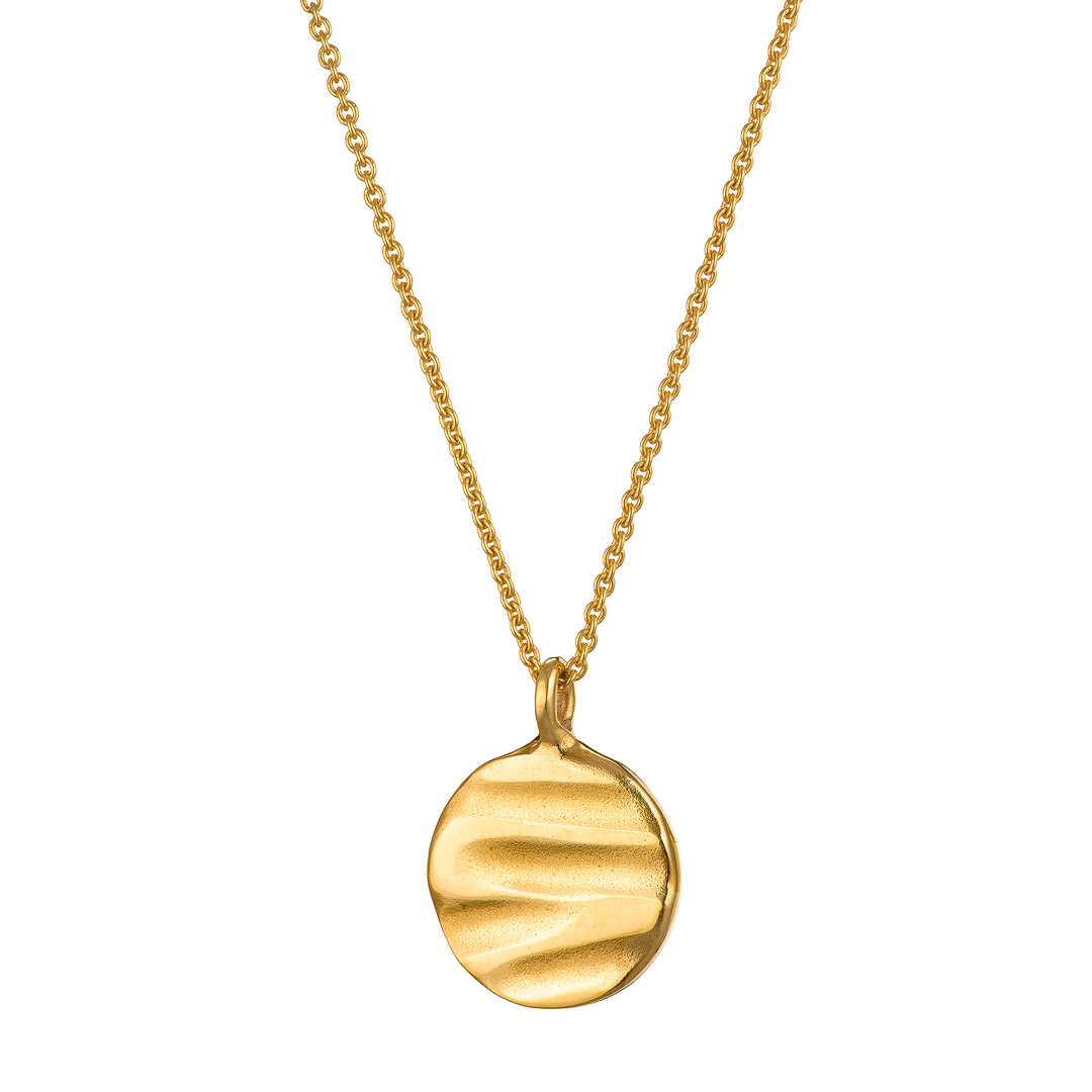 Grand Soft Day Gold Disc Necklace