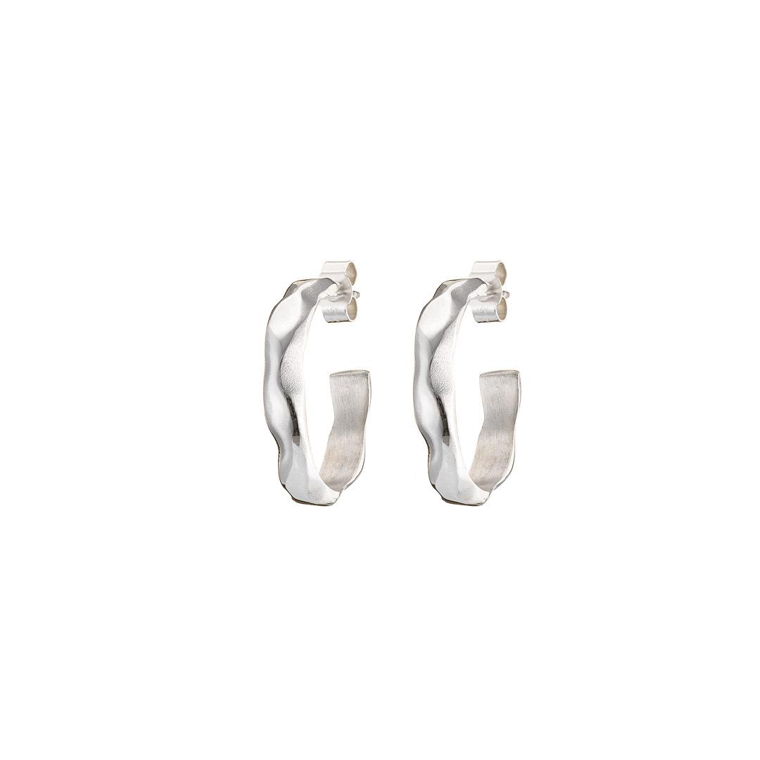 Grand Soft Day Silver Hoop Earrings